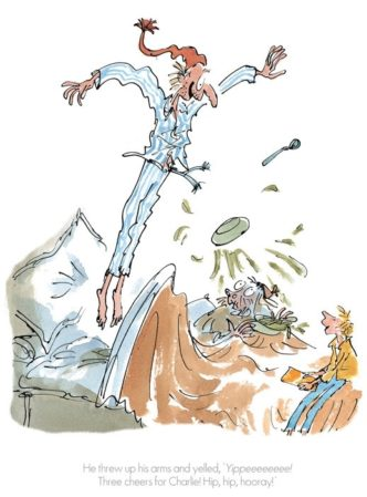 Three Cheers for Charlie! by Quentin Blake ROald Dahl Limited Edition Print