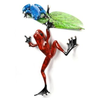 Cliffhanger (Solid Bronze Frog Sculpture) by Tim Cotterill Frogman Haddon Galleries Torquay