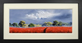 Scarlet Fields (Original) by Allan Morgan
