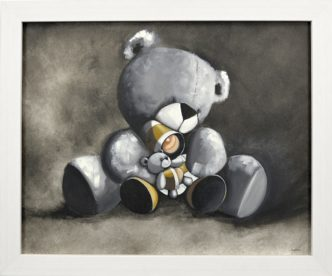 Bear Hugs (Original) Painting by Mike Jackson