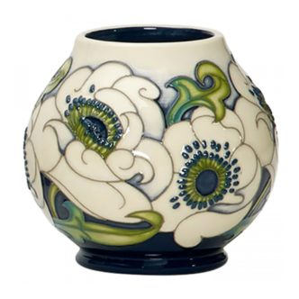 Snow Song Vase RM2/4 by Moorcroft Pottery