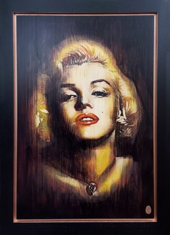 Monroe Copper (Original Variation) by Rob Bishop Marilyn Monroe Art