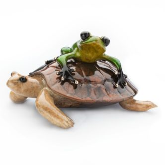 *NEW* Easy Rider (Solid Bronze Frog Sculpture) by Tim Cotterill Frogman Haddon Galleries Torquay