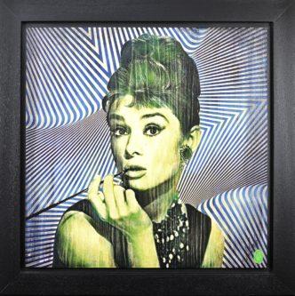 Hepburn: Green (Original) by Rob Bishop Audrey Hepburn Art