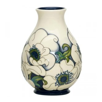 Snow Song Vase 7/7 by Moorcroft Pottery