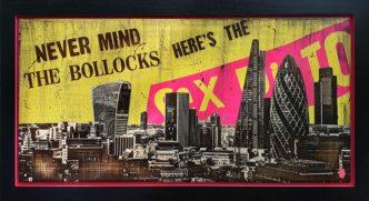 London Skyline: God Save The Queen (Original Variation) by Rob Bishop Sex Pistols Art