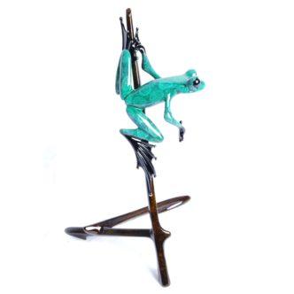 I-Spy (Solid Bronze Frog Sculpture) by Tim Cotterill Frogman Torquay Devon
