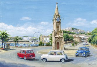 The Italian Job Lives - Torquay by Tony Smith Mini Art