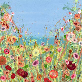 Summer Dreaming Signed limited Edition Floral Art by Julie Clifford