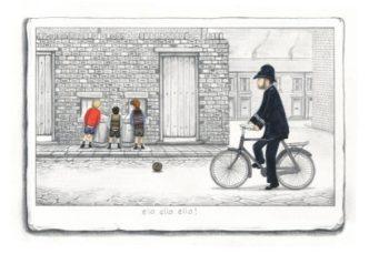 Ello Ello Ello! (Paper Sketch) by Leigh Lambert