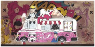 The Splatmobile (Original) by Garry Floyd
