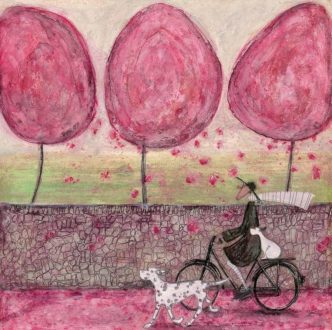 A Pink Day Signed Limited Edition Print by Sam Toft