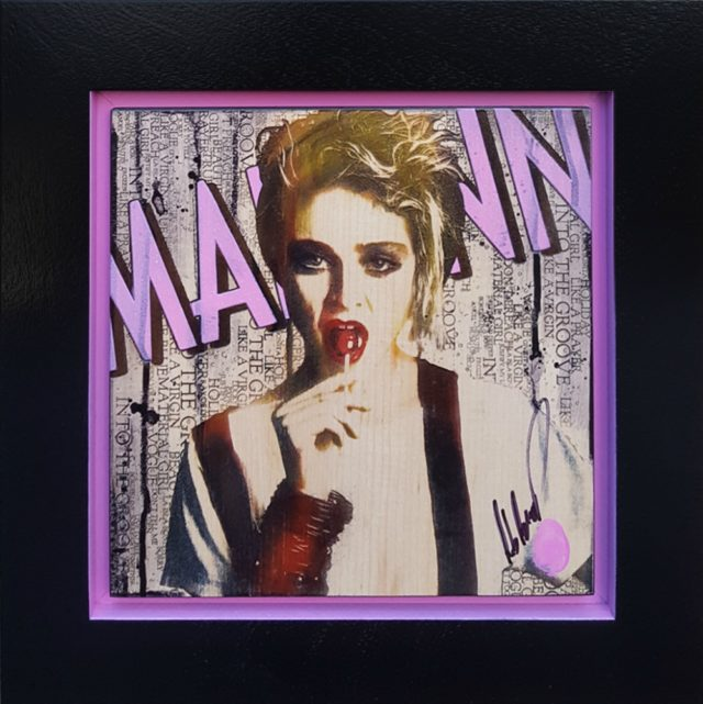 Mini Madonna (Original Variation) by Rob Bishop Art On Maple Wood Madonna Art