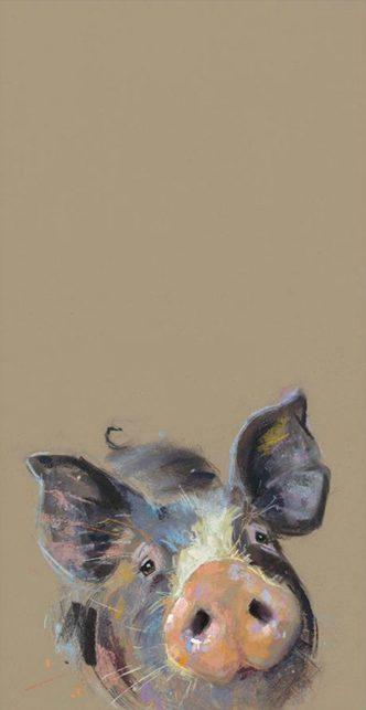 Happy Hoglet by Nicky Litchfield Pig Print