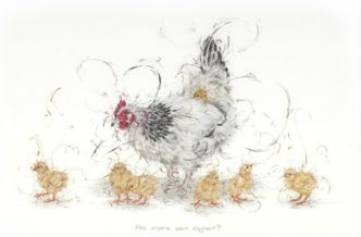 Has Anyone Seen Eggbert? by Aaminah Snowdon chickens