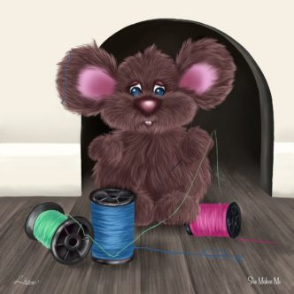 Ride The Wild Wind by Lisa Holmes mouse art cute
