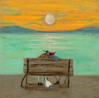 Watching The Tide Roll Away Signed Limited Edition Print by Sam Toft