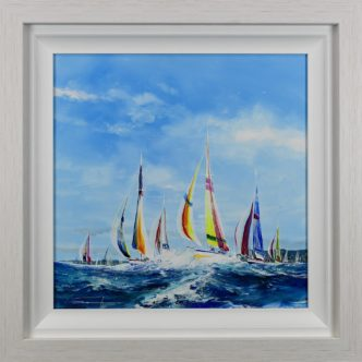 Rising Sun by Dale Bowen Original Yacht Painting