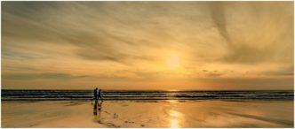 Sunset Photograph Widmouth Bay Cornwall Framed Print by Paul Haddon