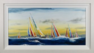 Sunset Breeze by Dale Bowen Original Yacht Painting
