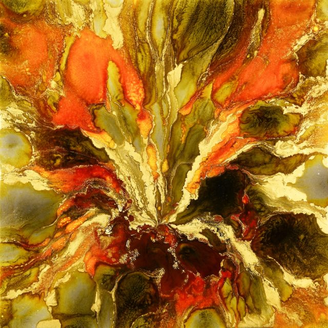The Golden Touch by Lee Tyler Abstract Art on canvas