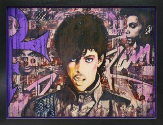 Prince (Original) by Rob Bishop Art on Maple Wood Prince Art