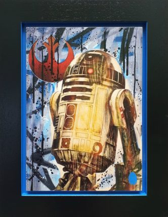 R2-D2 (Original Variation) by Rob Bishop Art on Maple Wood Star Wars R2-D2
