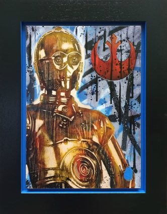 C3-PO (Original Variation) by Rob Bishop Art on Maple Wood Star Wars C3PO