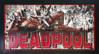 Deadpool (Original Variation) by Rob Bishop Art on Maple Wood