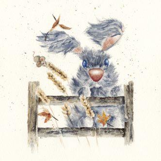 Hang On, Ear We Go Print By Lisa Holmes