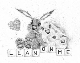 Lean on Me Print by Lisa Holmes