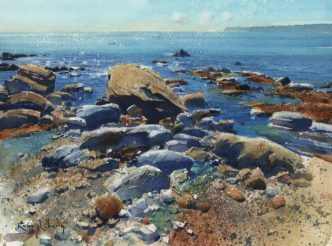 Meadfoot Morning by Richard Thorn Devon Art