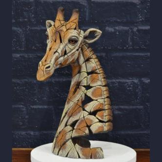 Giraffe Bust by Matt Buckley Edge Sculpture