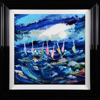 Riding The Wild Waves Roz Bell Original Painting