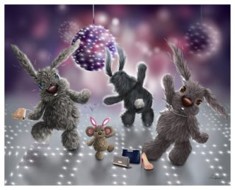 Dance Like No One's Watching by Lisa Holmes Bunny Art Limited Edition