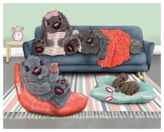 Pillow Talk by Lisa Holmes Bunny Art Limited Edition