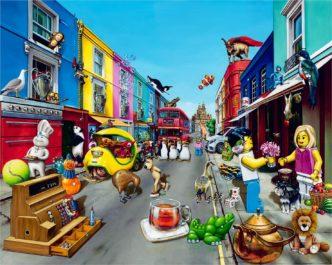 Portobello Road by Alberto Martinez Fine Art Limited Edition Print