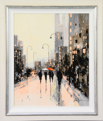 Rainy Days In The City by John Horsewell Art