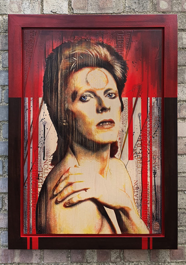 Bowie by Rob Bishop Wood Art