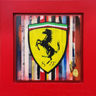 My Diary: Ferrari by Rob Bishop Art on Maple Wood