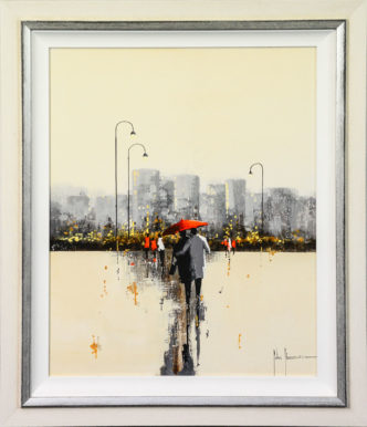 Love In The Rain by John Horsewell Original Art