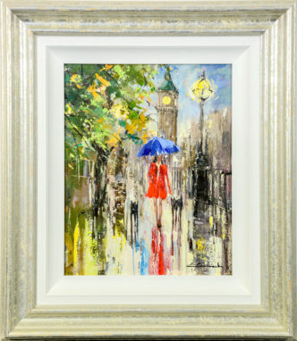 Southbank Stroll by Ewa Czarniecka Original Art