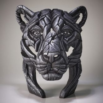 Edge Sculpture Panther Bust Silver Limited Edition