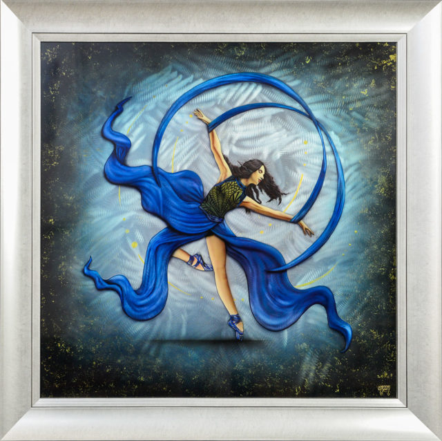 Rhythm & Blues (Original on Metal) by Tamsin Evans Art